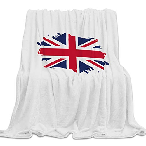 YEHO Art Gallery Flannel Fleece Bed Blanket Super Soft Cozy Throw-Blankets for Kids Girls Boys,Lightweight Blankets for Bed Sofa Couch Chair Day Nap,The Flag of UK,59x79inch (Throw Uk Faux Wolf Fur)
