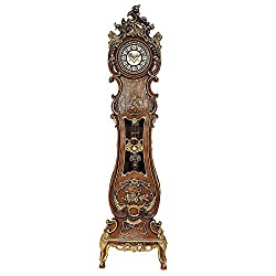 Hand Carved,painted Grandfather Floor Standing European Style Clock Home Decor