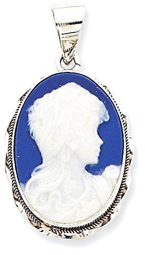 Porcelain Cameo Pendant Necklace - 4