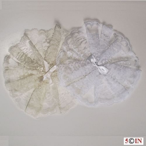 Synagogue Jewish doilies kippot- Full Head Fancy Lace Women's Headcovering - Ivory