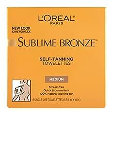 L'Oreal Paris Sublime Bronze Self-Tanning Towelettes, Medium Tan, 6 ct.