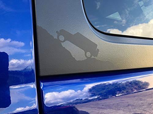 4 Pack Matte Black Jeep Climbing Mountain Hardtop Corner Vinyl Decals for 2007 2008 2009 2010 2011 2012 2013 2014 2015 2016 2017 2018 2019 Jeep Wrangler JK JKU JL JLU by CAO Enterprises (Jeep Wrangler Corner)