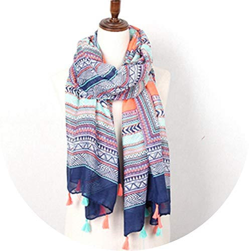 Scarf With Tassels Chevron Zig Zag Pattern Good Quality For Women,Multicolor