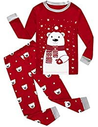 Christmas Little Boys Girls Child Pajamas Sets 100% Cotton Toddler Pjs