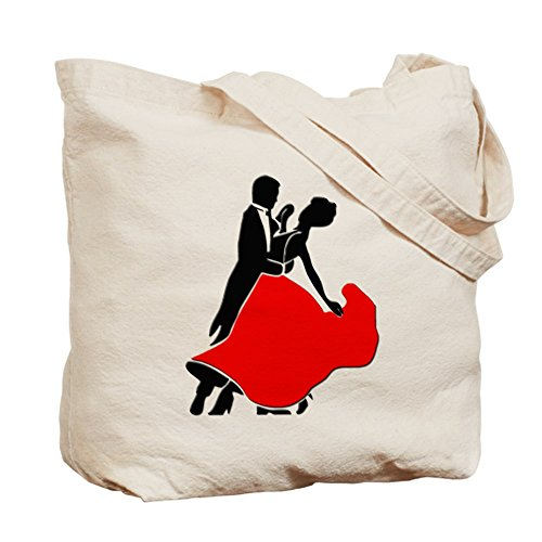 Cafepress–Shall We Dance–Borsa di tela naturale, tessuto in iuta