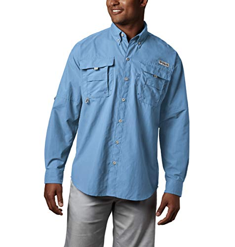 Columbia Men's PFG Bahama II Long Sleeve Shirt , Sail, XX