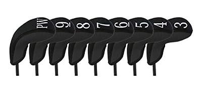 Stealth Club Covers 18010 Hybrid Set 3-PW Golf Club Head Cover (8-Piece), Black Solid
