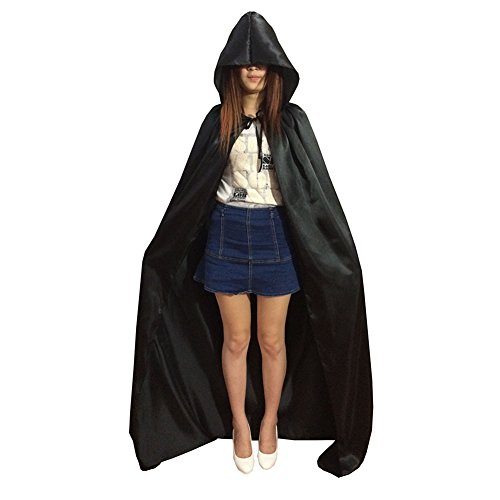 Smartcoco Halloween Sorcerer Grim Reaper Cosplay Hooded Sleeveless Cloak Adult Halloween Party Costumes Capes(S-XL) - Renaissance Falconer Costume