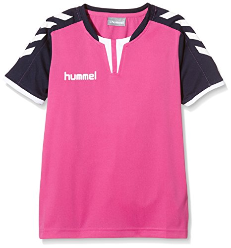 - Hummel Sport Boy Hummel Core Short Sleeve Soccer Jersey, Rose Violet/Marine, Youth Small
