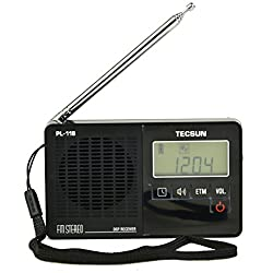 Tecsun PL118 Mini-size Featherlight Digital PLL Synthesized & DSP (Digital Signal Processing) FM Clock Radio with ETM (Easy Tuning Method), Alarm Clock and Sleep Timer