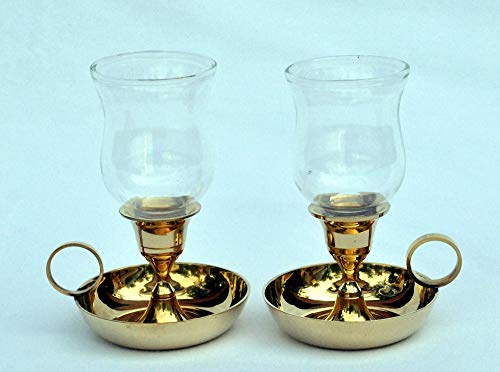 3SCompany Tulip Hurricane Candle Holder - Glass Tealite Holder