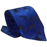 Gravata Slim Trabalhada Xadrez Importada Azul Jacquard