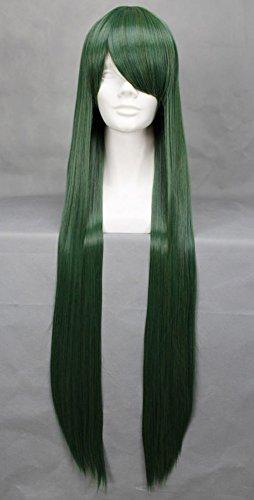 Peluca larga verde 100 cm, Cosplay Sailor Moon Meiou Setsuna
