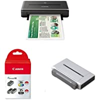 CANON PIXMA iP110 Wireless Mobile Printer With Ink and Battery Bundle