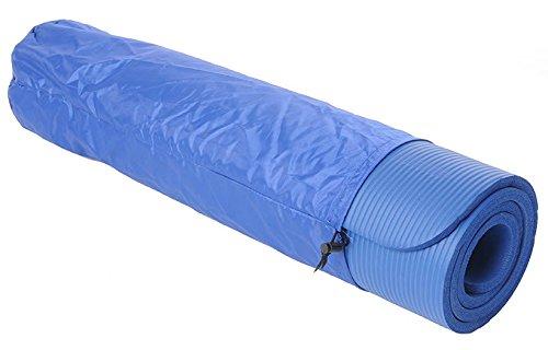 Kawanyo Colchoneta Esterilla De Yoga Pilates Fitness azul con bolso y correa 190 X 60 X