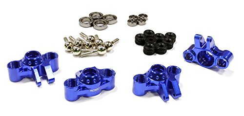 Integy RC Model Hop-ups C25621BLUE Billet Machined Steering Block Conversion for 1/16 E-Revo, Slash, Rally & Summit (Block Steering Integy)