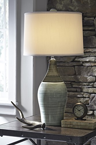 Ashley Furniture Signature Design -  Niobe Ceramic Table Lamp - Set of 2 - Multicolored/Gray by Signature Design by Ashley (Image #2)'