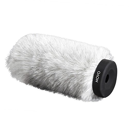 Movo WS180 Professional Windscreen with Acoustic Foam Technology for Shotgun Microphones up to 16cm Long