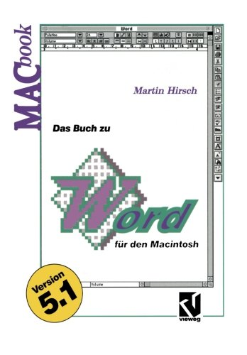 Das Buch zu Word für den Macintosh (MACbook) (German Edition) by Vieweg+Teubner Verlag