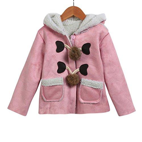warme mit Kapuze Baby Nette Omiky® Winter Mantel starke Kleidung Mantel Jacke Rosa Säuglingsherbst wqIaSxO