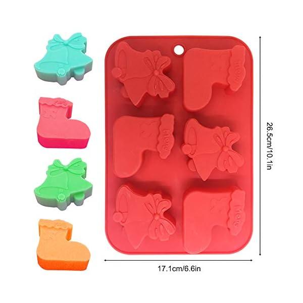 3 pezzi di Natale stampi in silicone, Yucool muffa di cottura antiaderente per feste come regalo di Natale, a forma di… 5 spesavip