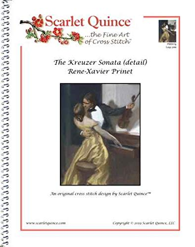 Art Sonata Armen - Scarlet Quince PRI001lg The Kreuzer Sonata (detail) by Rene-Xavier Prinet Counted Cross Stitch Chart, Large Size Symbols