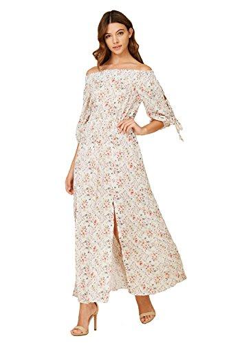 White Floral Smock Smocked Dress - 7