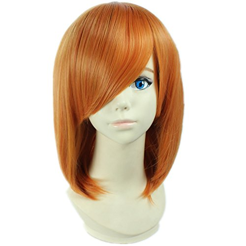 COSPLAZA Cosplay Kostueme Peruecke Death Note Mero kurz Orange Anime Haar