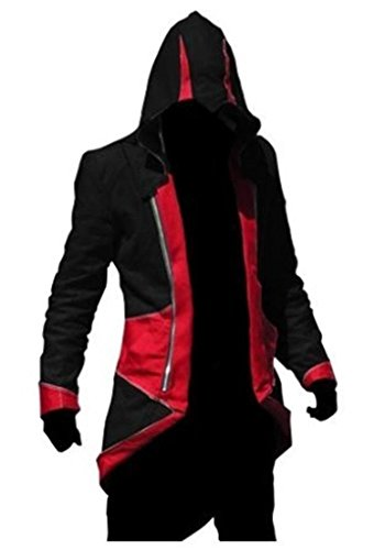 BuyChic Cosplay Costume Hoodie/Jacket/Coat-9 Options for The Fans,Black with Red,Men -