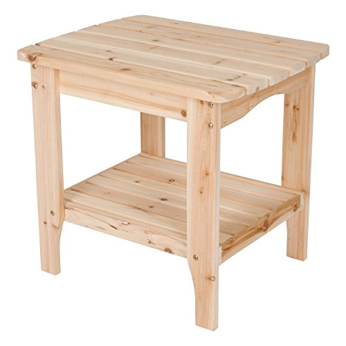 (Shine Company Rectangular Side Table, Large, Natural)