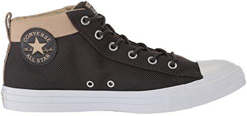 Converse Mens Street Nylon Mid Top Sneaker Quasi Nero / Vintage Kaki