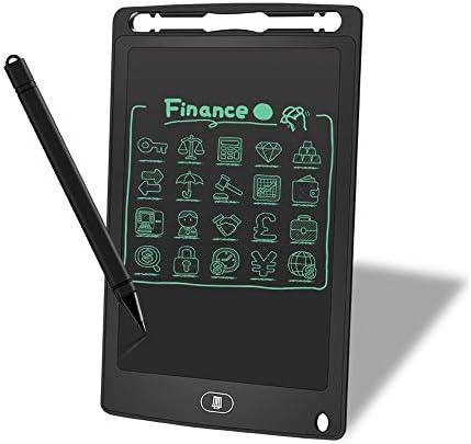 Dmxiezib 8,5-Zoll-LCD-Tablette, die Stift-Schreibtafel hervorhebt Elektronisches Studentenbrett für Kinder Zeichenbrett LCD-Schreibtafel Zeichenbrett Graffiti-Brett (Color : Black)