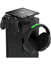 Dust Cover Controller Holder for Xbox Series X Console, Holder Stand Mount Accessories for Xbox Series X Controller and Gaming Headsets