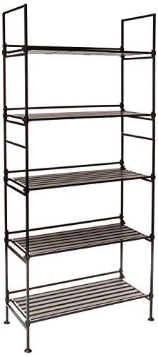 Neu Home Espresso 5 Tier Wide Free Standing Storage Shelf- No Tool Assembly by Neu Home