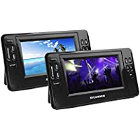 Sylvania 7-Inch Twin Mobile Dual Screen/Dual DVD Portable DVD Player - Play Same or Separate Movies
