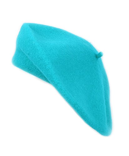 3 Pieces Pack Ladies Solid Colored French Wool Beret (Turquoise-3 Pack)