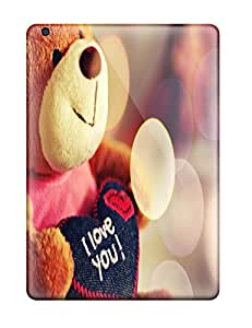 Excellent Ipad Air Case Tpu Cover Back Skin Protector I Love You Teddy Bear