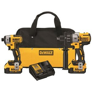 dewalt-dck299m2-20v-max-xr-lithium-ion-brushless-premium-hammerdrill-impact-driver-combo-kit-40-ah