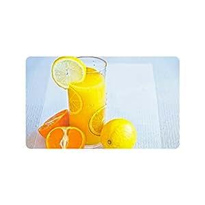 Especial diseño personalizado de cristal de limón Juice personalizado antideslizante lavable a máquina baño interior / exterior Felpudo 30 x 18 pulgadas