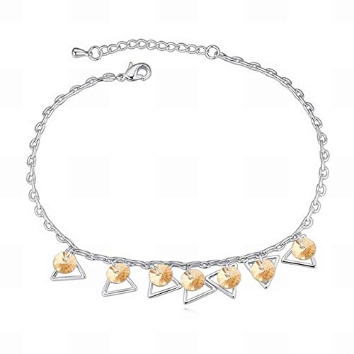 HOX Swarovski Element Crystal Anklet Yayun 翩然 Ruili Handmade Footwear Fashion Swarovski Elements Crystal Alloy Platinum Platinum, Gold