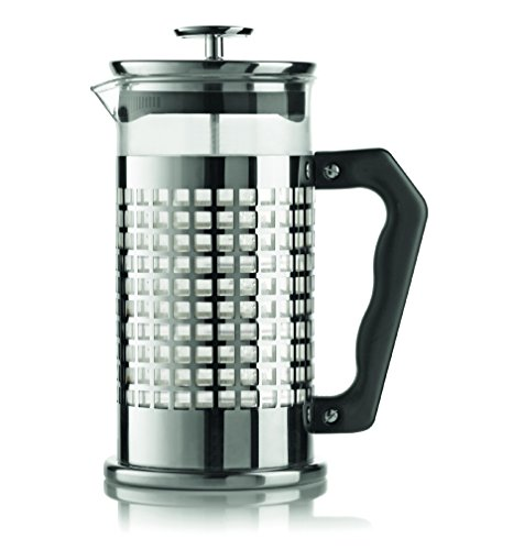 Bialetti, 06708, Trendy Stainless Steel Coffee Press, 8 cups, 34 oz, tea, coffee, coldbrew, silver