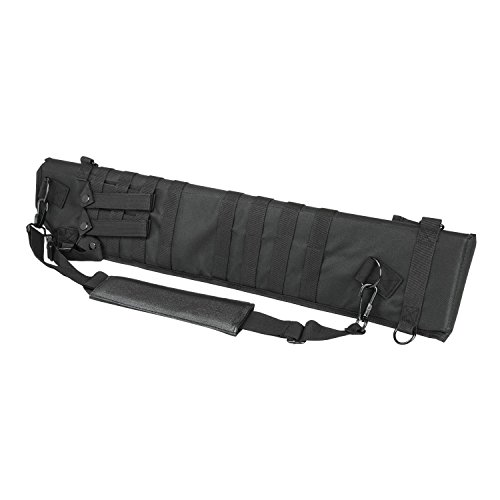 VISM by NcStar Tactical Shotgun Scabbard (CVSCB2917B), Black (Pvc Case Black Holster)