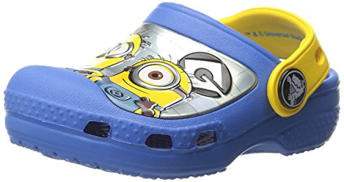 crocs CC Minions Clog (Toddler/Little Kid), Varsity Blue/Yellow, 4/5 M US Toddler (Despicable Me Shoes)