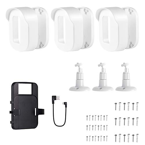 Blink Outdoor Wall Mount Bracket,3 Pack Full Weather Proof Housing/Mount with Blink Sync Module Outlet Mount for Blink XT2/XT Indoor Outdoor Cameras Security System (White)