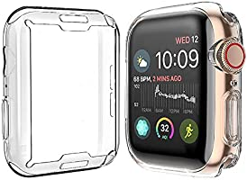 [2-Pack] Julk Case for Apple Watch Series 6 / SE/Series 5 / Series 4 Screen Protector 40mm, Overall Protective Case TPU...