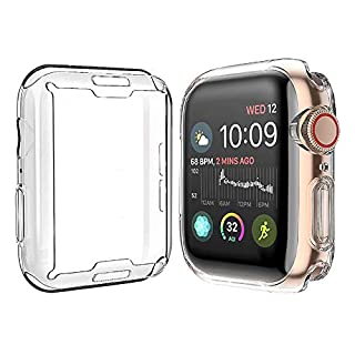 [2-Pack] Julk Case for Apple Watch Series 6 / SE/Series 5 / Series 4 Screen Protector 40mm, New iWatch Overall Protective Case TPU HD Clear Ultra-Thin Cover (40mm)