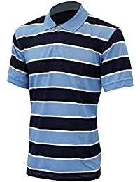 Men's Big and Tall Short Sleeve Collared Polo Shirt Rugby Style Top