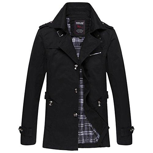 Coat Della Black Gli Cotone Primavera Vento Casual Il Top Giacca Lavato Cappotti Autunno Uomini amp;s A Mei TtBq66