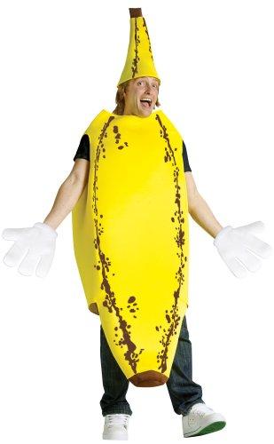 [FunWorld Ripe Banana, Yellow, One Size Costume] (Banana Deluxe Adult Costumes)