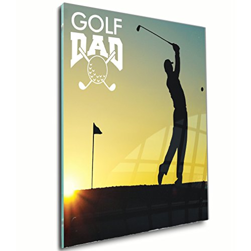 Golf Dad with Nature Acrylic Wall Decor Wall Art - Shadow Mount,